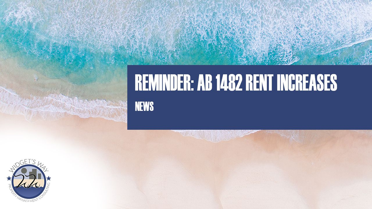 AB 1482 Rent Increase Reminder