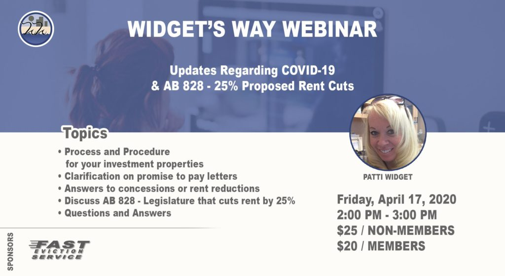 Webinar - updates on COVID-19 and AB 828