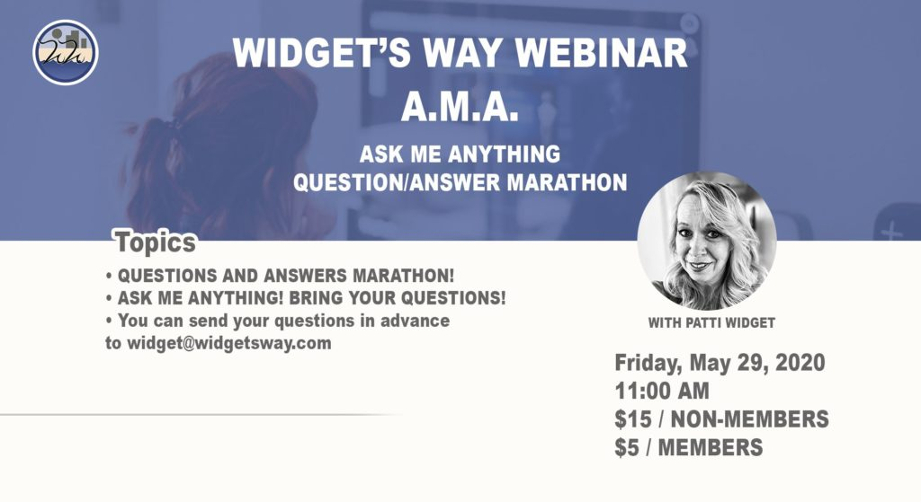 A.M.A. Ask me anything webinar on May 29th